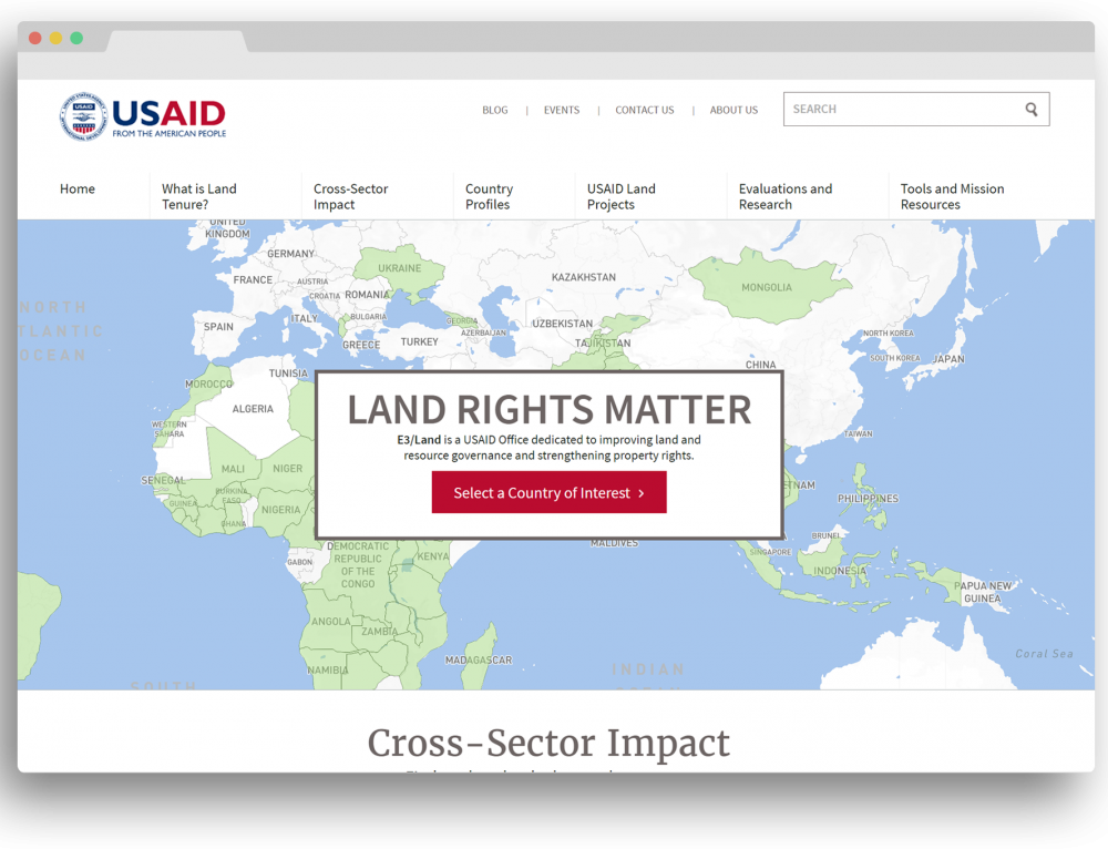 Website: USAID's LandLinks